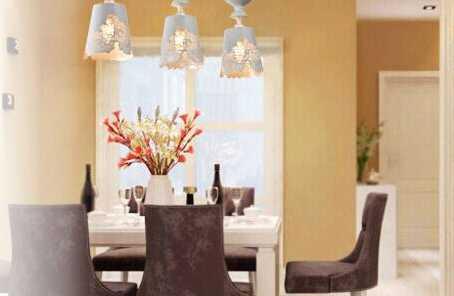 餐厅吊灯怎么安装,才更聚光