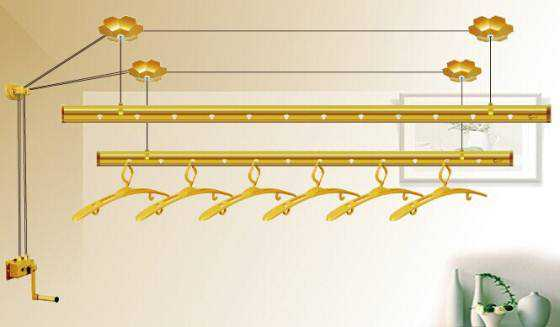 手摇晾衣架的优势及详细安装步骤