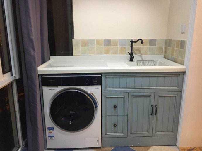 实木洗衣柜安装步骤