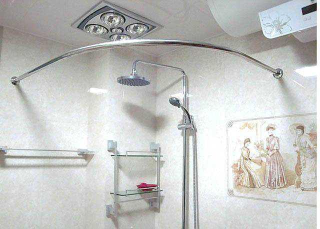 卫生间浴帘杆怎么安装——浴帘杆安装步骤