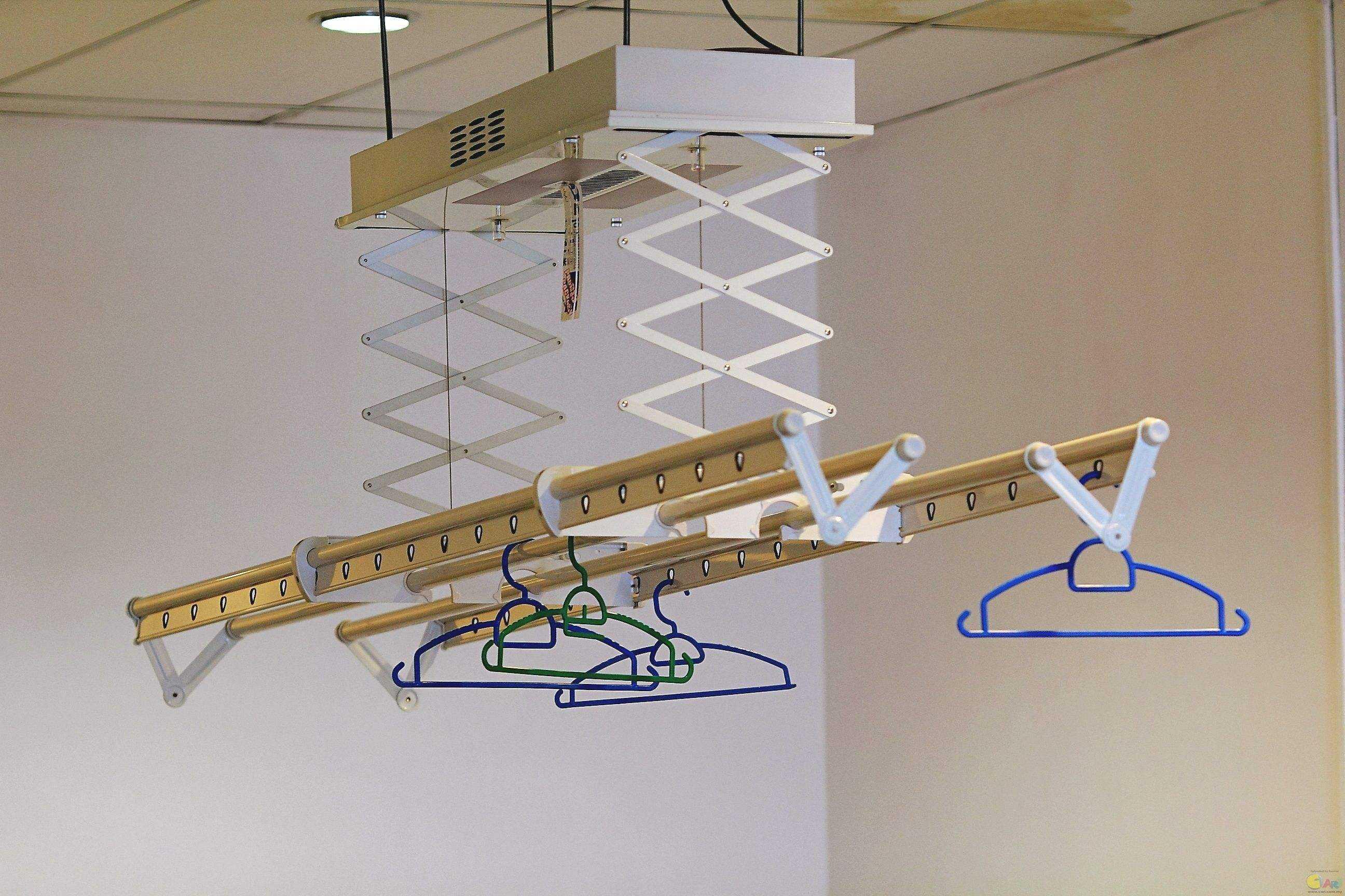如何在安装晾衣架时不显示钢丝绳