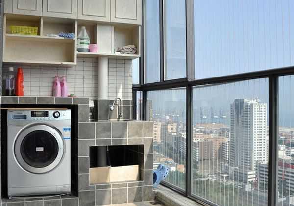 阳台充分利用 洗衣柜安装步骤及注意事项
