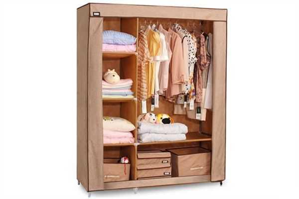 布衣柜的安装,几个小技巧安装完成