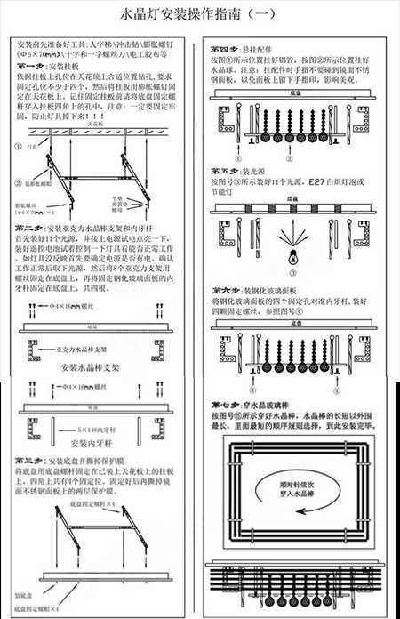 水晶灯安装位置选择 水晶灯安装指南
