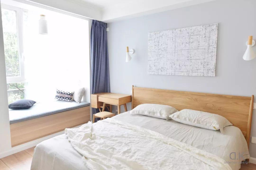 卧室有飘窗,你可以这样安装窗帘