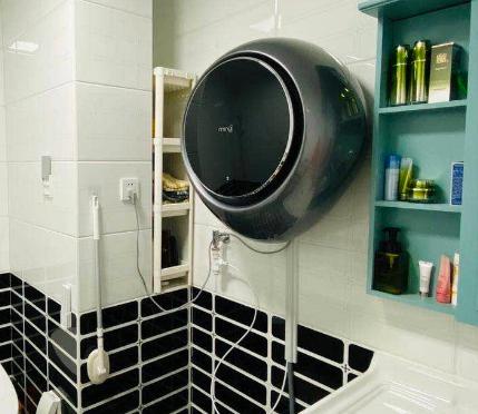 壁挂式洗衣机安装在哪堵墙上|排水怎么安装?