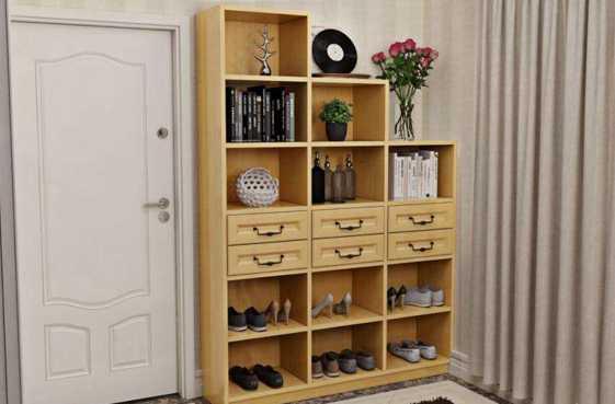 收纳强的组合鞋柜安装方法,非常省空间!