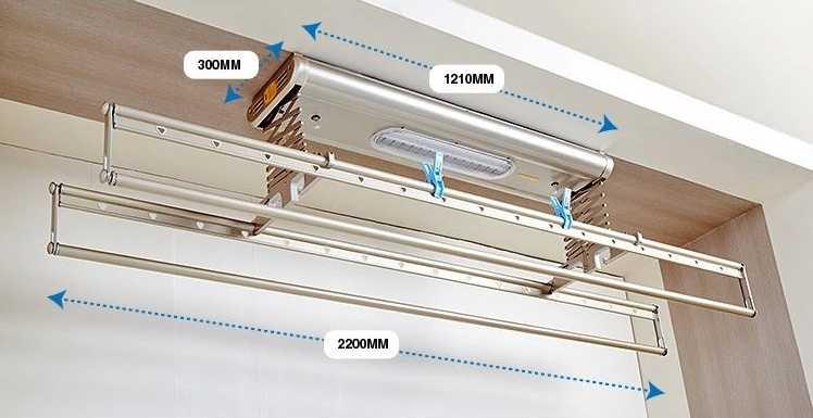 阳台天花板晾衣架如何安装?