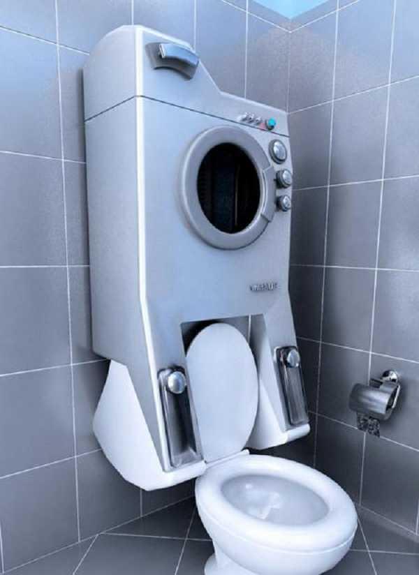 你听说过在马桶上安装洗衣机吗?世界之大,无奇不有。