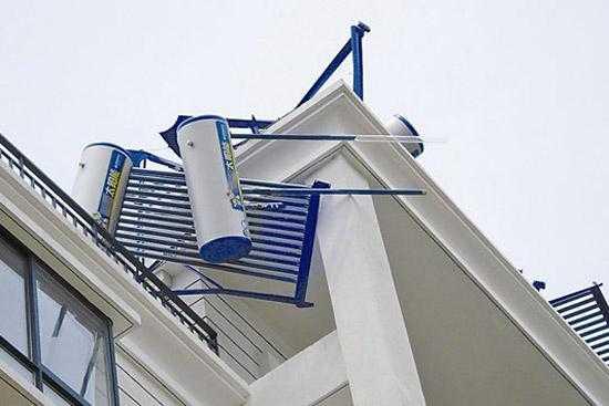 太阳能热水器的安装需要注意下面这些问题。
